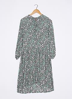 Robe mi-longue vert BAKKER pour femme
