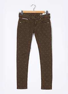 Jeans skinny marron HERRLICHER pour femme