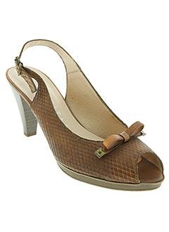 Sandales/Nu pieds marron HISPANITAS pour femme