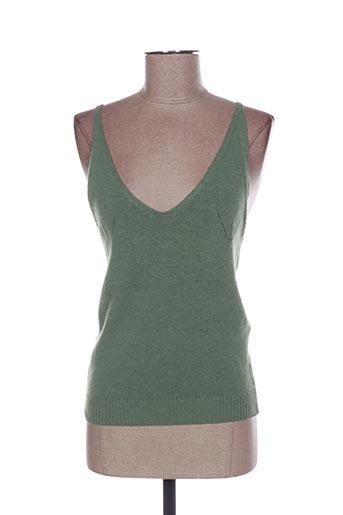 Pull col V vert BEL AIR pour femme