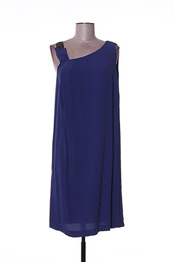 Robe mi-longue bleu ATTIC AND BARN pour femme