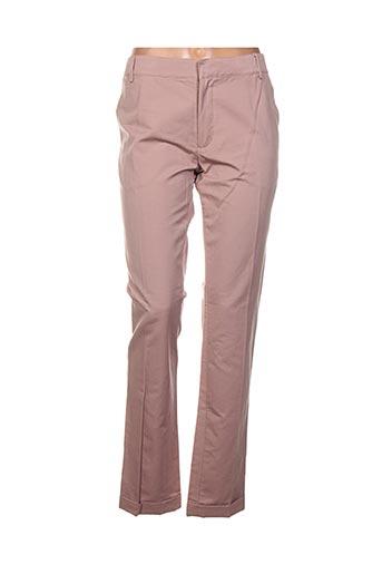 Pantalon casual rose AMERICAN RETRO pour femme