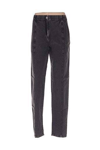 Pantalon casual noir AMERICAN RETRO pour femme