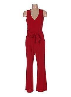 Combi-pantalon rouge LA FEE MARABOUTEE pour femme