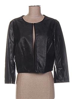 Veste simili cuir noir LA FEE MARABOUTEE pour femme