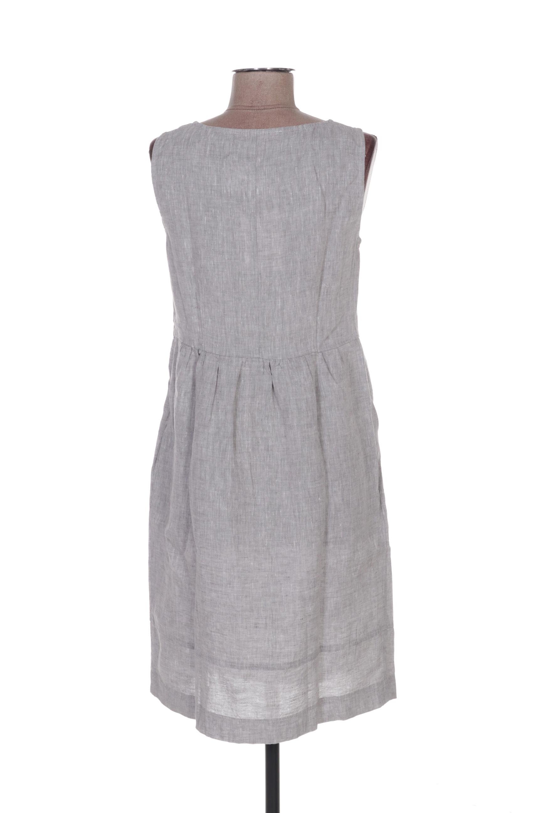La Fee Maraboutee Robes Mi Longues Femme De Couleur Gris En Soldes Pas Cher 1396687-gris00