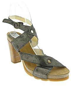 Sandales/Nu pieds gris FLY LONDON pour femme