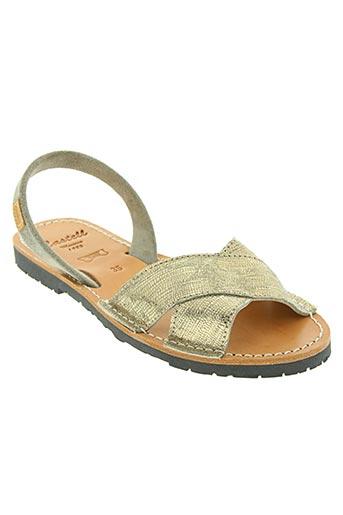 Sandales/Nu pieds beige CASTELL MENORCA pour femme