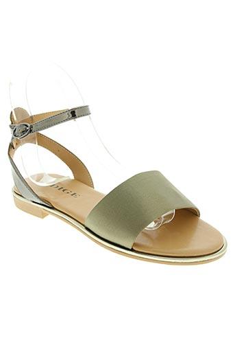 Sandales/Nu pieds vert ADIGE pour femme