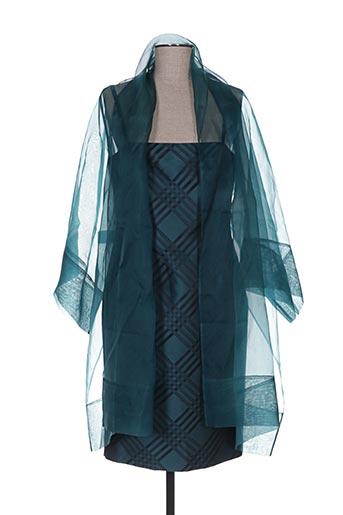 Robe mi-longue vert CARAMELO pour femme