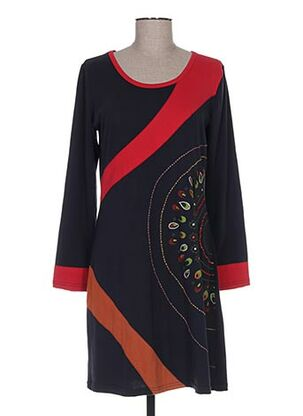 Robe mi-longue noir ALLER SIMPLEMENT pour femme