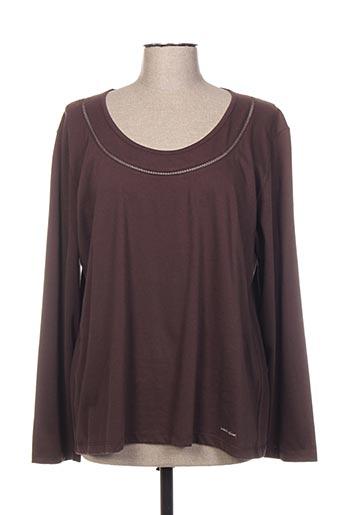 T-shirt manches longues marron CAROLE RICHARD pour femme