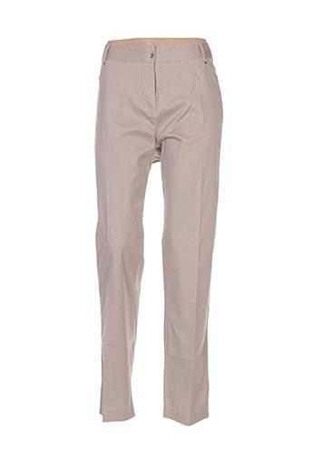 Pantalon casual beige FEMMES JE VOUS AIME pour femme