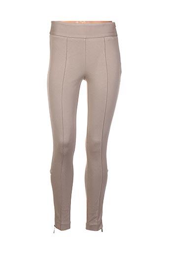 Pantalon casual beige CARAMELO pour femme