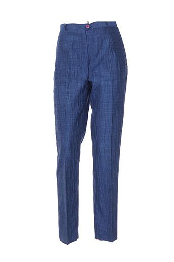 Pantalon casual bleu BREAL pour femme