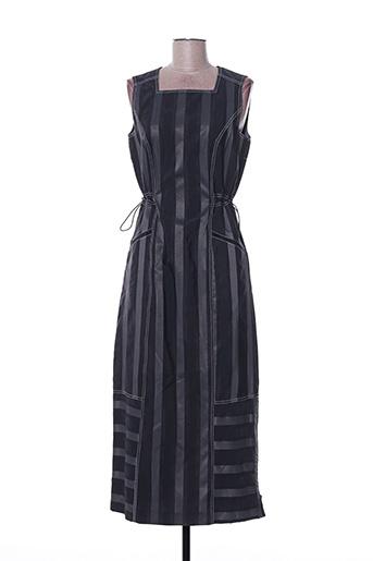 Robe longue noir FELINO pour femme