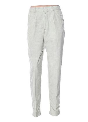 Pantalon casual vert FRANCOIS DEGASNES pour femme