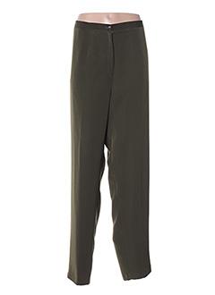 Pantalon casual vert FRANCOISE DE FRANCE pour femme