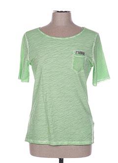 T-shirt manches courtes vert CONCEPT UK pour femme