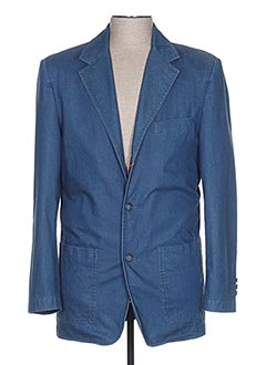 Veste chic / Blazer bleu ENZO CARLITO pour homme