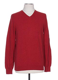 Pull col V rouge CELIO pour homme