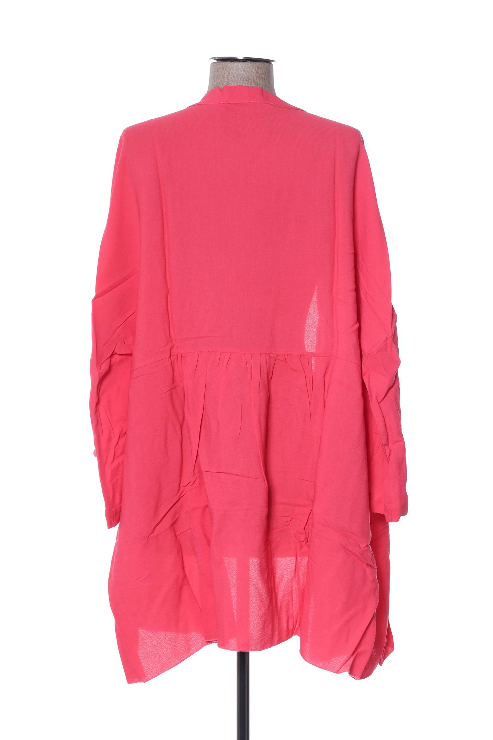 La Fee Maraboutee Vestecasual Femme De Couleur Rose En Soldes Pas Cher 1397536-rose00