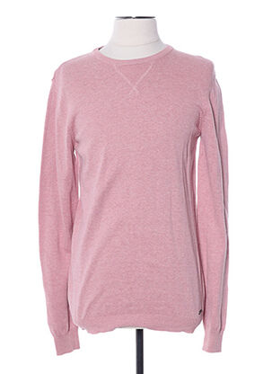Pull col rond rose CAMPS UNITED pour homme