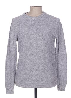 Pull col rond gris TIBET pour homme