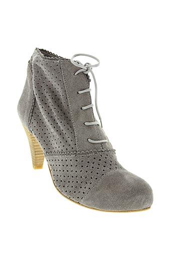 Bottines/Boots gris BILL TORNADE pour femme