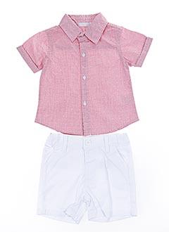 Top/short rouge BABY BOL pour garçon
