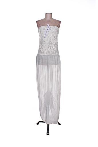 Robe longue gris CARLA GIANNINI pour femme