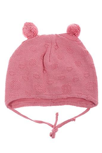 Bonnet rose PUSBLU pour fille