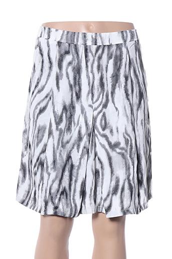Jupe courte gris ARELINE pour femme