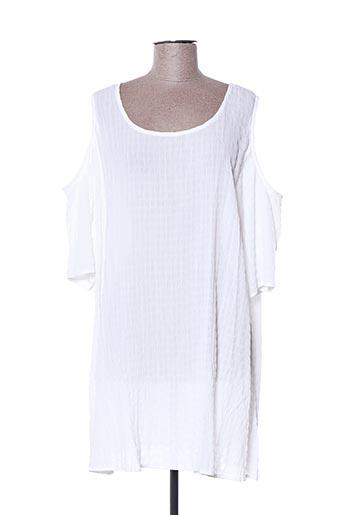 Blouse manches courtes blanc CHRISTY pour femme