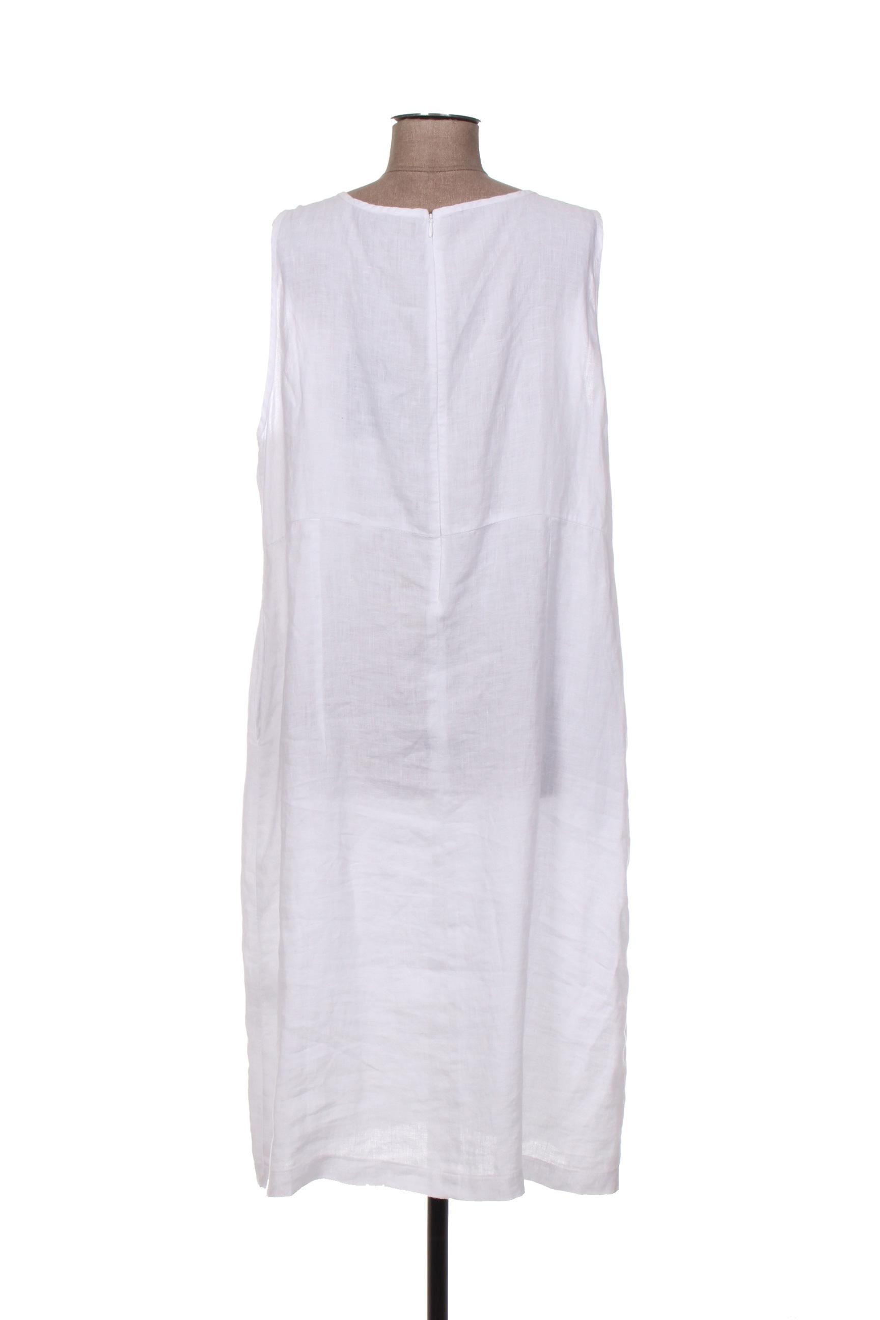 Kokomarina Robes Mi Longues Femme De Couleur Blanc En Soldes Pas Cher 1402150-blanc0