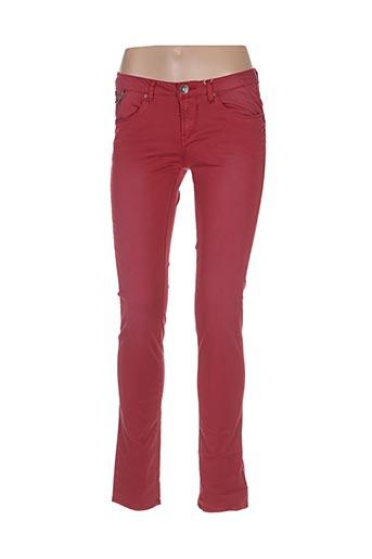 Pantalon casual rouge GARCIA pour femme