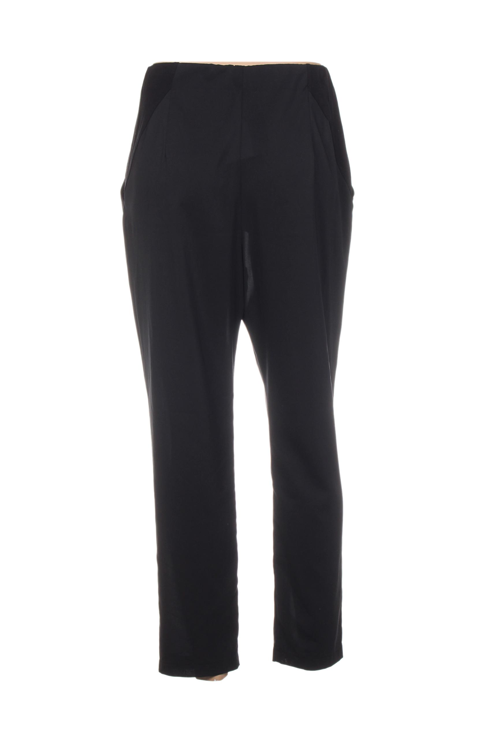 Lauren Vidal Pantalons Citadins Femme De Couleur Noir En Soldes Pas Cher 1411015-noir00