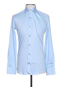 Chemise manches longues bleu AUTHENTIQUE pour homme
