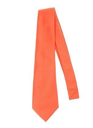 Cravate orange CLAUDE GABRIEL pour homme