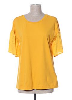 T-shirt manches courtes jaune DIANA GALLESI pour femme