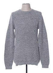 Pull col rond gris SELECTED pour homme seconde vue