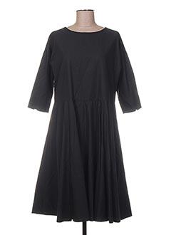 Robe mi-longue noir GASA pour femme