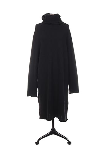 Robe pull noir ALBUM DI FAMIGLIA pour femme