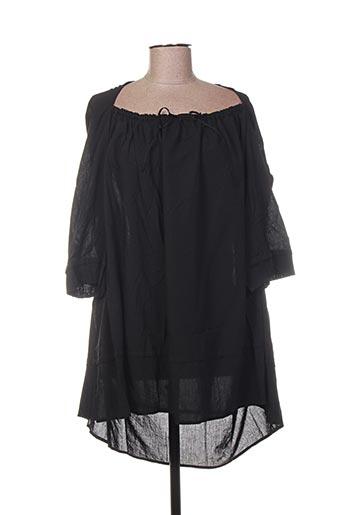 Tunique manches longues noir BARBARA LANG pour femme