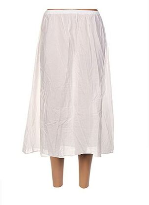 Jupe mi-longue blanc BARBARA LANG pour femme