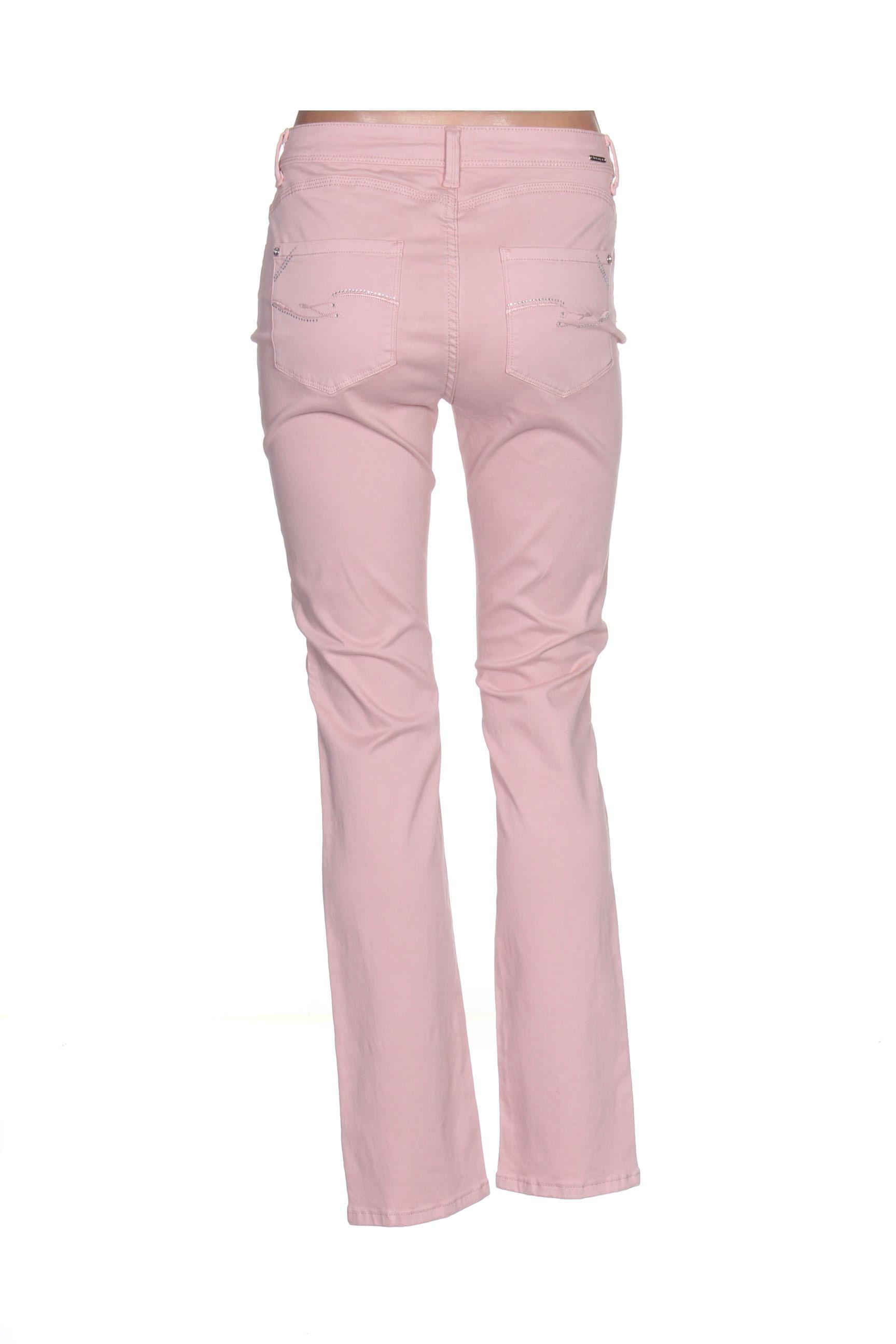 Diane Laury Pantalons Decontractes Femme De Couleur Rose En Soldes Pas Cher 1408210-rose00