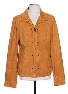 Veste en cuir orange SCOTCH & SODA pour homme