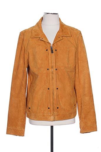 Veste en cuir orange SCOTCH & SODA pour homme