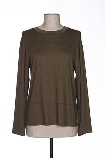 T-shirt manches longues vert MAISON SCOTCH pour femme