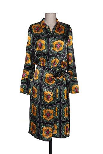 Robe mi-longue vert MAISON SCOTCH pour femme